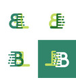 bl letters logo with accent speed in light green vector image vector image