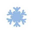 blue grainy snowflake vector image vector image