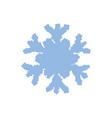 blue grainy sowflake vector image vector image