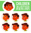 boy avatar set kid indian hindu asian vector image vector image