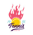 bright tennis design logo icon design print badge vector image