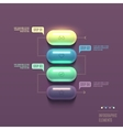 business infographics capsule concept vector image