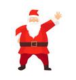 cartoon santa claus with a white beard vector image vector image