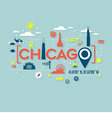 Chicago icons and typography design vector image vector image