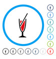 cocktail rounded icon vector image vector image