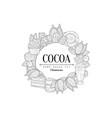 cocoa vintage sketch vector image vector image