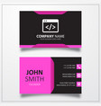 coding icon business card template vector image vector image