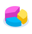 colorful pie chart vector image