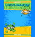 comics magazine colorful template vector image