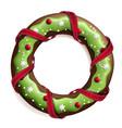 cookie stylized christmas wreath vector image vector image