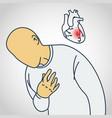 coronary artery disease icon vector image vector image