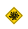 coronavirus 2019-ncov corona virus attention icon vector image vector image