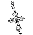 Cross crucifix vector image vector image