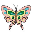 different color buterfly on white background vector image
