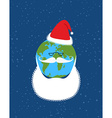 Earth of Santa Claus World-new year Earth with vector image
