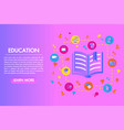 education flat colorful designopen book with set vector image vector image