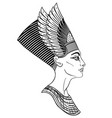 egyptian queen nefertiti isolated on white vector image vector image