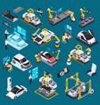 electric vehicle production isometric set
