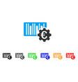 euro barcode setup icon vector image vector image