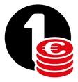 Euro coin column icon vector image vector image