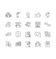 feedback line icons signs set outline vector image vector image