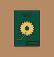 flat icon design collection car gear scheme vector image vector image