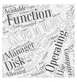 Functions of Operating Systems Word Cloud Concept vector image vector image