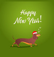 funny dog sings song xmas 2018 card vector image vector image
