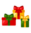 gift boxes with bow vector image vector image