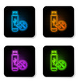 glowing neon usb flash drive with screwdriver and vector image vector image