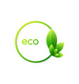 green ecology icon vector image vector image