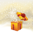 Holiday Christmas background with open gift vector image vector image