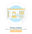 icon photo editor app on white vector image vector image