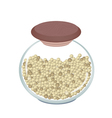 Jar of Dried Peppercorns on White Background vector image vector image