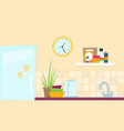 kitchen flat for web and design vector image