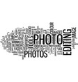 learn to fix imperfect photos text background vector image vector image