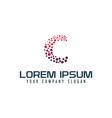letter c internet logo design concept template vector image vector image