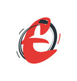letter e logo icon design business template vector image