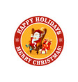 merry christmas icon for holiday greeting vector image vector image
