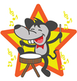 Mouse playing drum vector image vector image