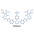 ombitasvir treatment hcv vector image vector image