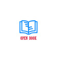 open book education design concept vector image vector image