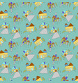 pattern seamless kids with home doodle element vector image