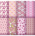 pink seamless pattern collection vector image vector image