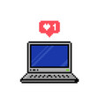 Pixel style social media like speech bubble