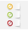 realistic design element clock vector image vector image