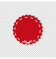 red circle sticker or label wrapped with white vector image vector image