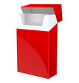 red empty pack cigarettes vector image