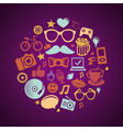 Round concept with trendy hipster icons and signs vector | Price: 3 Credits (USD $3)