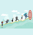 running to target business persons racing vector image vector image